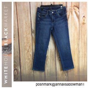 💸White House/Black Market Crop Leg denim jean